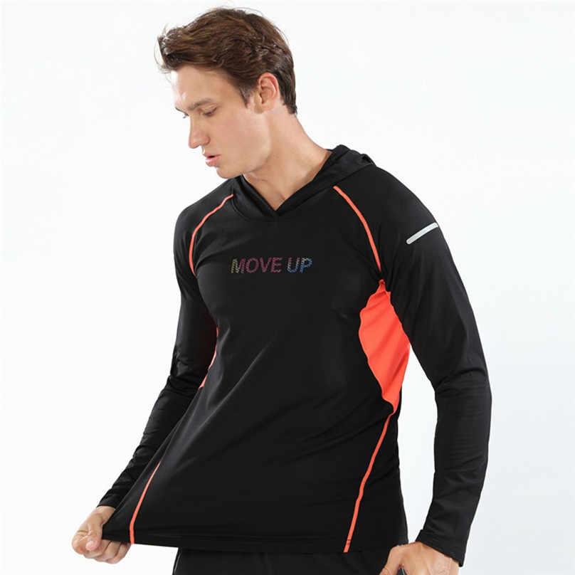 אופנה חורף הסווטשרט סוודר גברים ספורט טלאים ארוך שרוול חליפת אימוני כושר הסווטשרט חולצה צמרות חולצה & 4o15