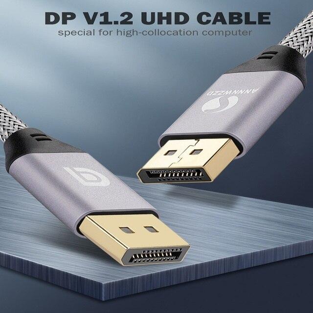 Displayport ケーブル 144 120hz の表示のポートケーブル 1.2 4 18k 60 60hz の hd 3D hdtv 用グラフィックスカードプロジェクター displayport displayport ケーブル