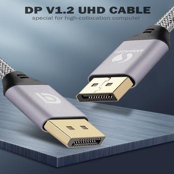 Kabel DisplayPort 144Hz kabel portu wyświetlacza 1 2 4K 60Hz HD 3D dla karty graficznej HDTV projektor DisplayPort na kabel DisplayPort tanie i dobre opinie ANNNWZZD Displayport (DP) Mężczyzna Mężczyzna YJ-DP DP Mini DP Kabli DisplayPort 1 2 Woreczek foliowy Oplot Brak Komputer