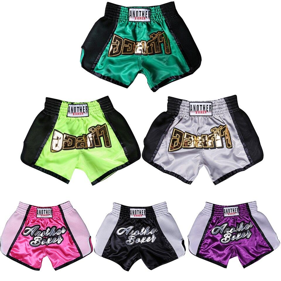 Muay Thai Boxing Shorts Breathable Men's Women's Kids Teenagers Kickboxing Fighting MMA Trunks Sanda Grappling Bjj Sports Short