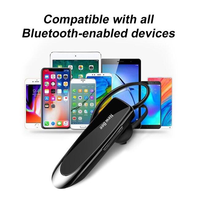Nuevo auricular Bluetooth V5.0 Original Bee, auricular de negocios, manos libres, auriculares de conducción parlantes 24 horas con micrófono para teléfonos