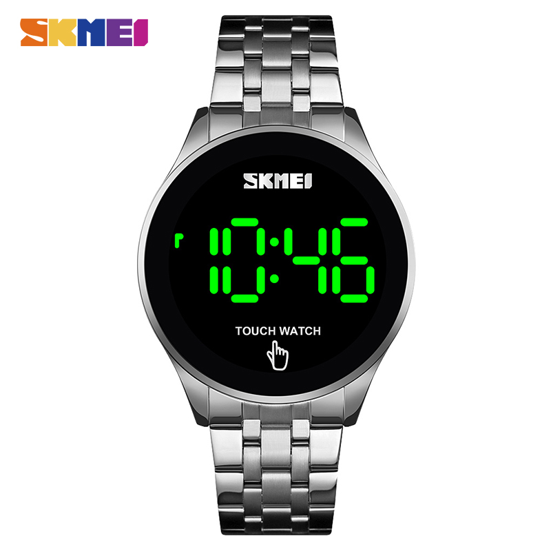SKMEI Top Brand Men's Watch Clock LED Touch Screen Man Digital Watches 30M Waterproof Male Wristwatch Relojes Para Hombre 1550