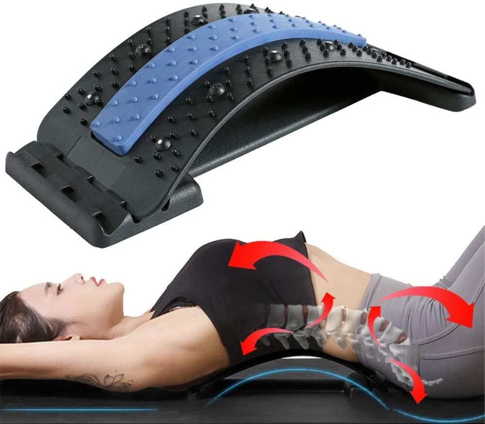 Back Stretcher Massager Relax Muscle Stretch Massager Home Spine Corrector Lumbar Support Stretcher Neck Waist Pain Relief