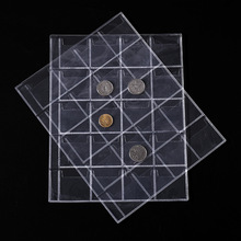 1Pcs 20 Pocket 3 Hole Coin Stamp Collection Transparent PVC Loose-Leaf Binding Sleeve Album Book Organizer Storage For Collector