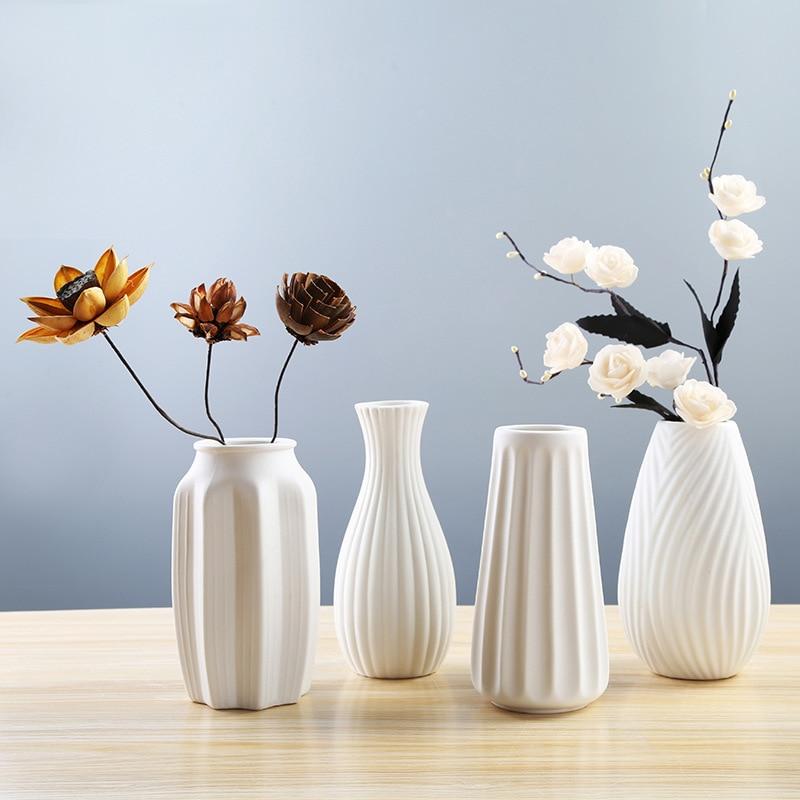 Sea Shell Conch Flower Vase Porcelain Craft Home Wedding Wall Decor Art Ornament