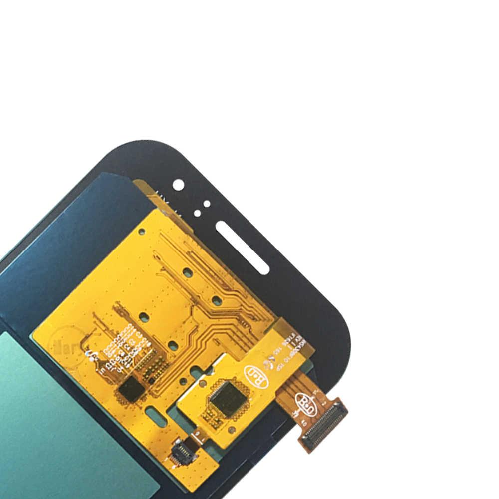 100% اختبار العامل AMOLED شاشات LCD لسامسونج غالاكسي J1 الآس J110 SM-J110F J110H LCD شاشة عرض مجموعة رقمنة اللمس