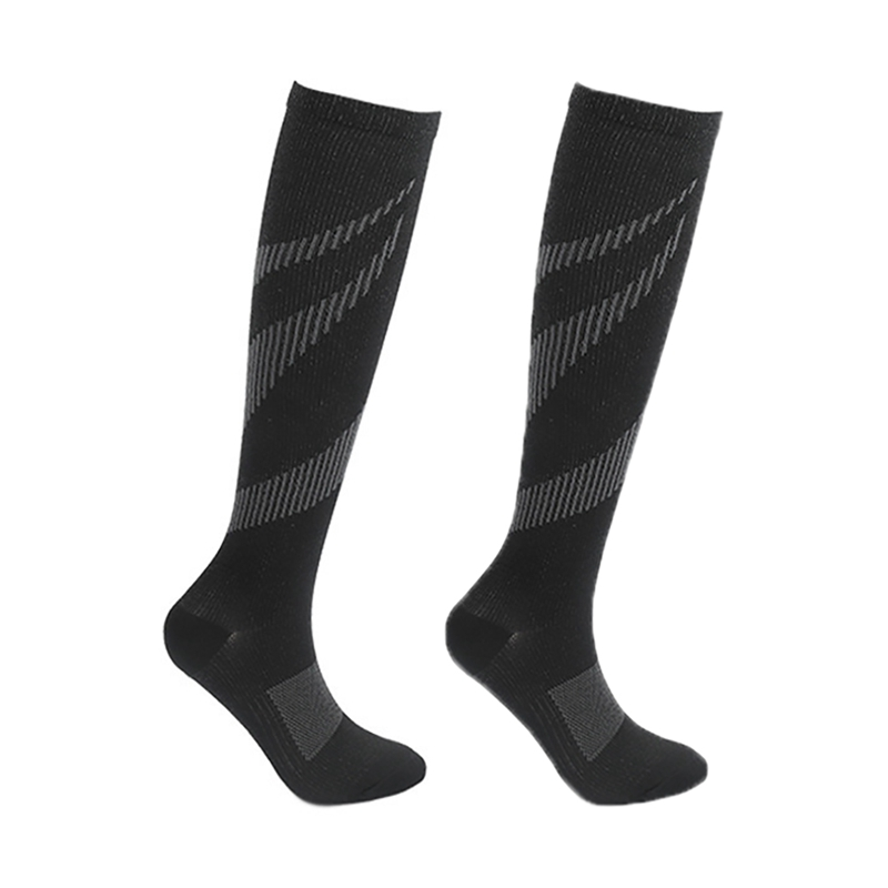 Running Compression Socks Women Men Knee High Sport Stockings Racing Pressure Run Compress Long Nylon Multi Color