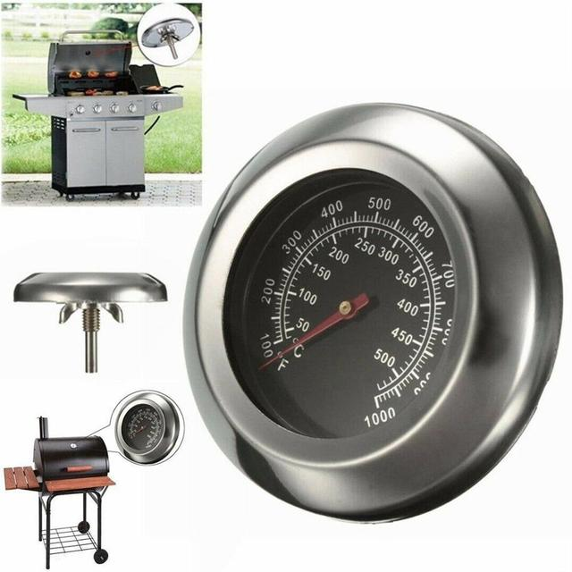 50~500 Degree Stainless Steel Barbecue BBQ Smoker Grill Thermometer Temperature Gauge Oven Thermometer Household Merchandises