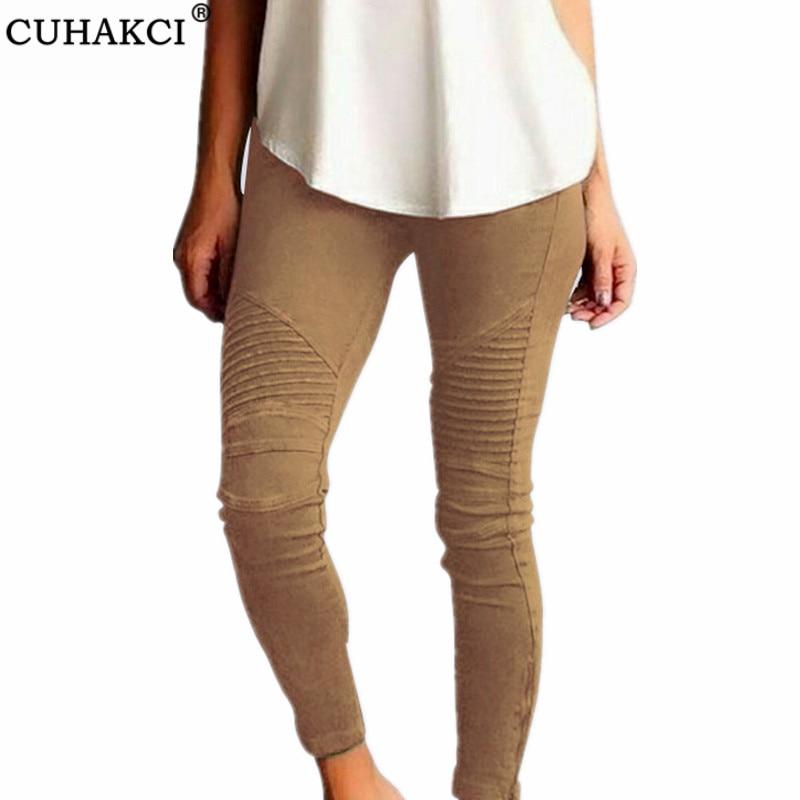 CUHAKCI Pencil Pants Plus Size Trousers 4XL 5XL High Waist Women Pocket Elastic Stretchy Slim Elegant Casual Pant Sexy Trousers