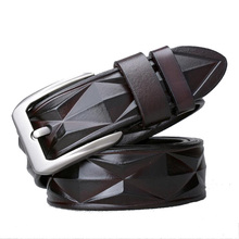 Western 3D Technology Leather Men Belt Fashion Alloy Pin Buckle Men Jeans Causal Pants Belt stylish alligator pattern alloy pin buckle belt for men