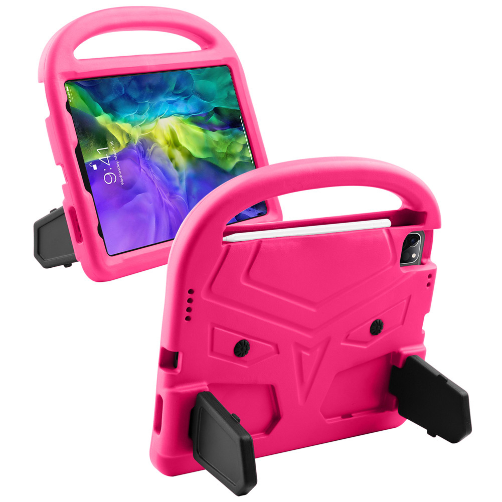 Clear Clear for iPad Air 4 Case 2020 A2316 A2324 EVA Safe Kids Handle Stand Tablet Case Cover