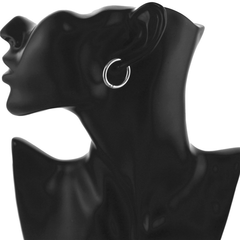 1PCS Stainless Steel  Earrings Fashion Black / Gold / Silver Color Rock Hip-Hop Earrings Men and Women Party Jewelry 2