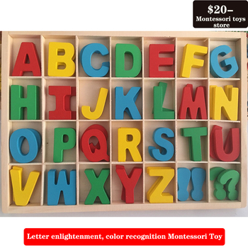 26 English letters English learning color cognitive puzzle wooden early education toys children s wooden toys enlightenment early education learning card english spelling cognitive puzzle montessori teaching aids
