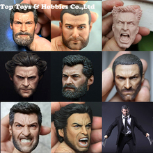 X-Men 1/6 Elderly Wolverine James  Howlett / Logan Head Sculpt Carved roar angry vision for 12 inches Figures 26cm wolverine figure logan x men x men play arts kai wolverine james logan howlett play art kai pvc action figure