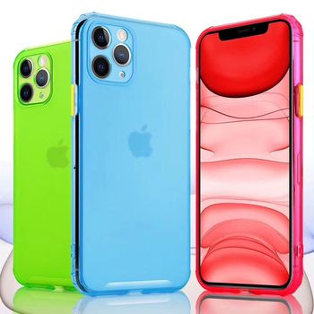 FUNDA SUAVE SILICONA Gel TPU Carcasa Case PARA iPhone 11 Colores