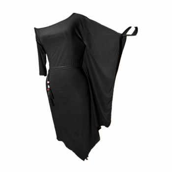 新ラテンダンスのスカート、黒バットスリーブ練習衣装ラテン競技ドレス女性ルンバダンスパフォーマンスの服 DQL2780