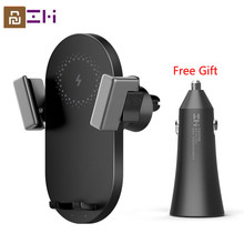Youpin ZMI Kit 20W Max Qi Wireless Car Charger With Car Charger WCJ10 Fast Charging Car Phone Holder 360 Degree For iPhone