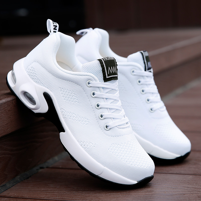 Fashion Women Shoes Air Cushion Sneakers Breathable Thick Sole Ladies Platform Trainers Female Height Increasing Shoes Plus Size title=
