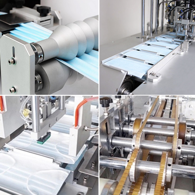 Manufacture 3 Ply Non Woven Surgical Disposable Face Mask Machine Fully Automatic Making Machine