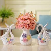 Europe Ceramic vase Stereo flower vases Crafts wedding jarrones decorativos porcelain vase creative home decoration accessories