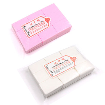 1000pcs Pink Gel Nail Polish Remover Cotton Pads Nail Wipes Lint Free Cleaner Manicure Cleaning Tools For Nails