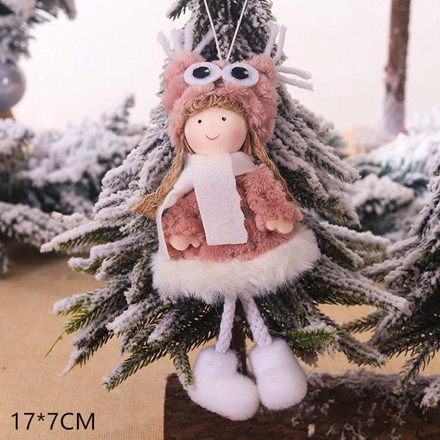 New Year 2020 Cute Santa Claus/Snowman/Angel Christmas Dolls Noel Christmas Tree Decoration for Home Xmas Navidad 2019 Kids Gift 184