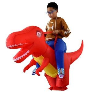 Image 2 - I Bambini adulti Gonfiabile Costume di Halloween Dragon Dinosaur Cosplay T Rex Fancy Dress Bambini Ride On Dino Purim Costumi