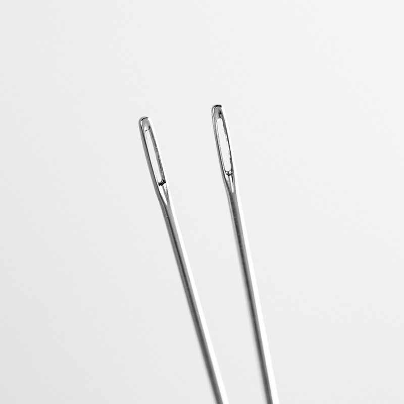 12 teile/beutel leder hand nähen nadeln Leathercraft DIY Edelstahl Geformt Pin Stich durchmesser 0,9/1,05mm Hand