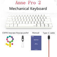 Anne Pro 2 Bluetooth 4.0 60% Mechanical Keyboard KAILH Box Switch 61Keys Wireless Type-C Wired RGB Backlit Mini Gaming Keyboard pro wired rgb mechanical keyboard bluetooth wireless cherry switch gaming keyboard double shot backlit keycaps for gamer
