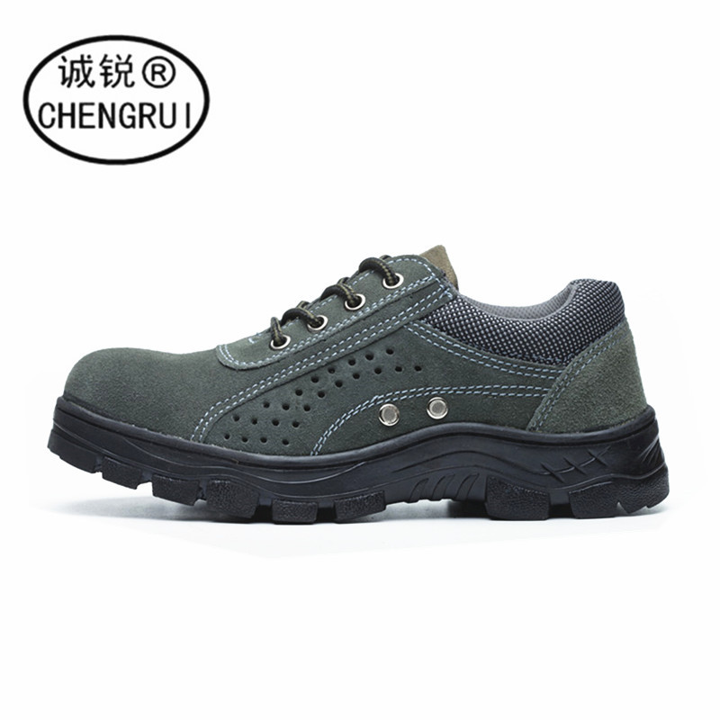 Safety Shoes Stab-Resistant Wear Deodorizing Breathable Liner Army Green Protective Shoes