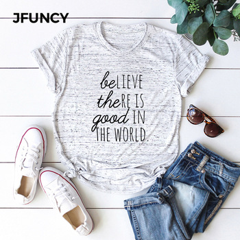 JFUNCY Creative Letter Printed Plus Size Women Loose Tee Tops 100% Cotton Summer T-Shirt Woman Shirts Fashion Casual Pink Tshirt jfuncy cute avocado cat print oversize women loose tee tops 100% cotton summer t shirt woman shirts fashion kawaii mujer tshirt