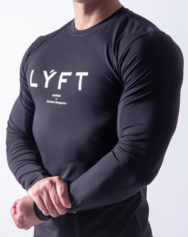 Men/'s Compression Shirt Fitness Gym Bodybuilding Long Sleeve T Shirt Tops Tee UK