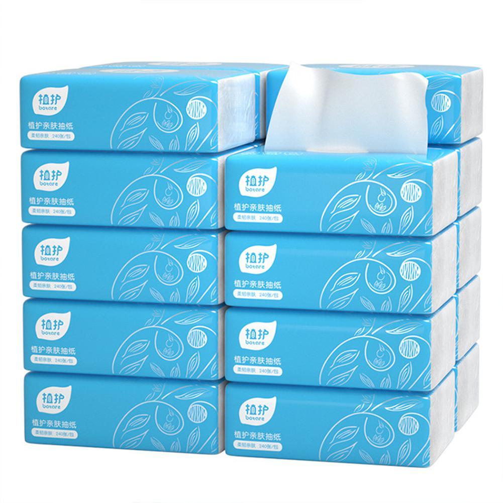 BellyLady 240 Sheets/Bag Natural Wood Tissue 4 Layer No Fragrance Paper Napkin Log Paper Toilet Paper Soft Paper Towels Napkins