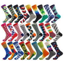 85% хлопок Красочные полоски клетчатые мужские и женские носки