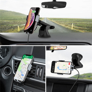 Image 5 - CHOETECH 15W Fast Wireless Car Charger Car Phone Holder Stand Auto Clamping Car Mount for iPhone Samsung Huawei Xiaomi