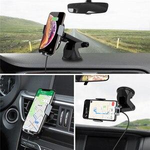 Image 5 - CHOETECH 15W מהיר אלחוטי רכב מטען לרכב טלפון מחזיק Stand אוטומטי הידוק רכב הר עבור iPhone סמסונג Huawei xiaomi
