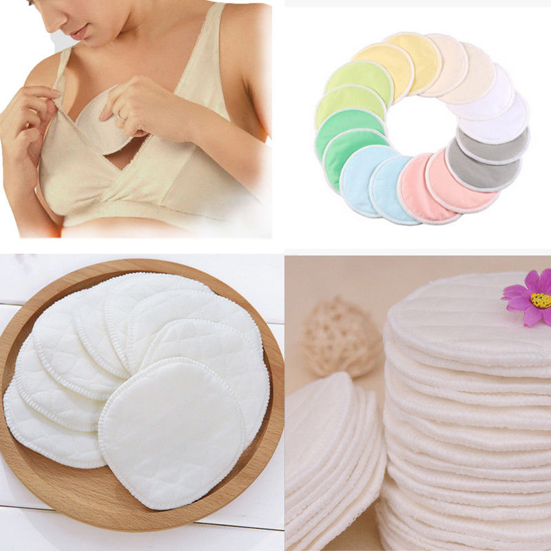 6Pcs Reusable Breast Pads Nursing Organic White Washable Pads Anti-overflow Maternity Nursing Pad Baby Breastfeeding Accessory