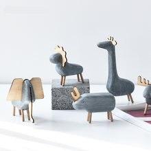 Новинка 2020 милые фигурки животных полимерные миниатюрные для
