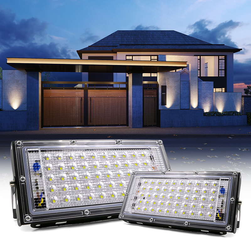 Waterproof Ip65 LED Flood Light 50W Spotlight Outdoor Garden Lighting AC 220V 240V Led Reflector Cast light Floodlights