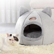 Lit pliable et amovible pour chat et chiot, mignon et confortable, tapis de couchage auto-chauffant pour l'hiver, panier d'intérieur pour chat et chien