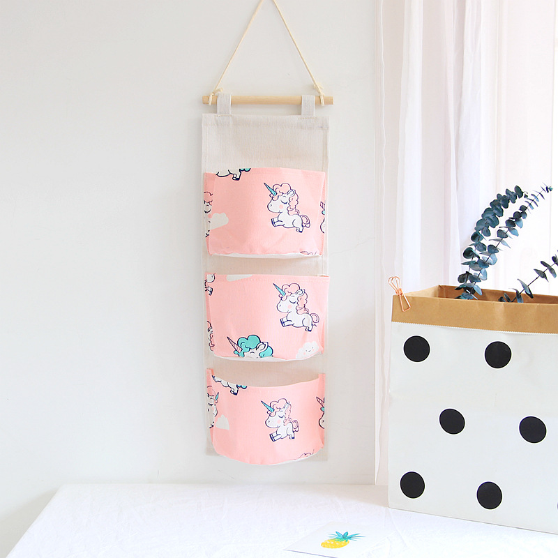 Unicorn 3 Grids Wall Hanging Organizer Storage Bag Best Children's Lighting & Home Decor Online Store