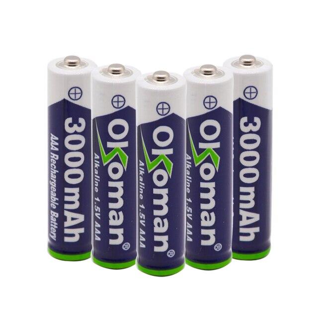 Batería alcalina AAA de 3000mah y 1,5 V, batería recargable AAA para Control remoto, batería de juguete, alarma de humo con cargador