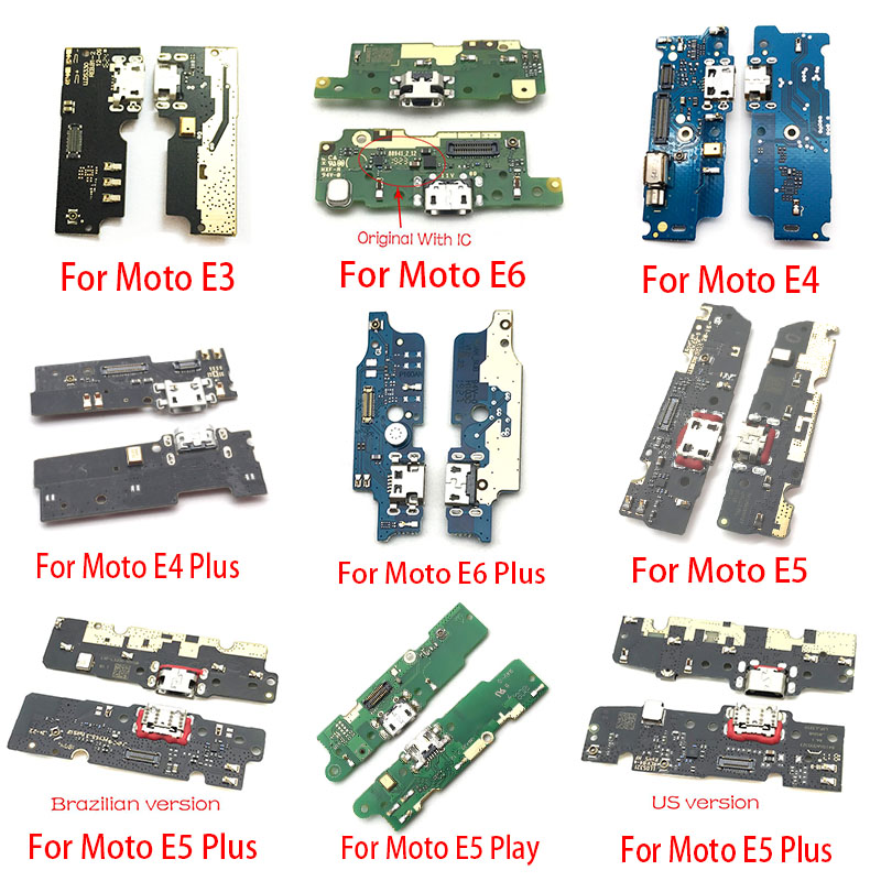 USB Power Charge Port Jack Dock Connector Charging Board Flex Cable For Motorola Moto M E3 E4 E5 Play Go E6 Plus X4