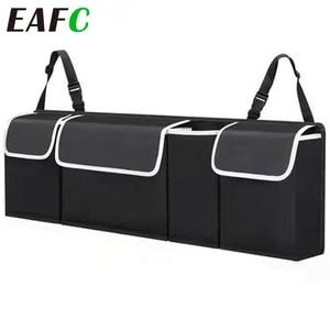 Image 1 - Adjustable Car Trunk Organizer Backseat Storage Bag High Capacity Multi use Oxford Car Seat Back Organizers Automobile Interior