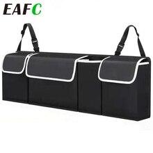 Organizador ajustable de maletero de coche, bolsa Oxford de almacenamiento de asiento trasero, multiusos, de alta capacidad para el Interior del automóvil