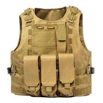 USMC Airsoft Military Tactical Vest Molle Combat Assault Plate Carrier Tactical Vest 7 Colors CS Outdoor Clothing Hunting Vest 8