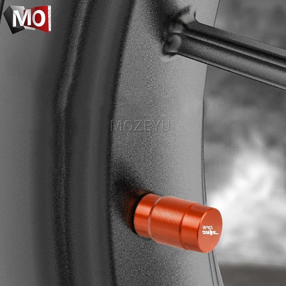 รถจักรยานยนต์ CNC ล้อรถยางวาล์ว Air Port หมวกต้นกำเนิดครอบคลุมปลั๊กสำหรับ KTM DUKE 390 DUKE390 390 DUKE 2012 -2019 2018 2017