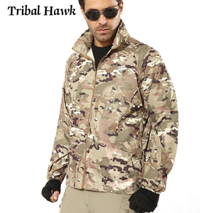 Summer Tactical Camouflage Jacket Men Waterproof Thin Hood Raincoat Windbreaker Military Navy Seal Lightweight Skin Jacket S-4XL(China)