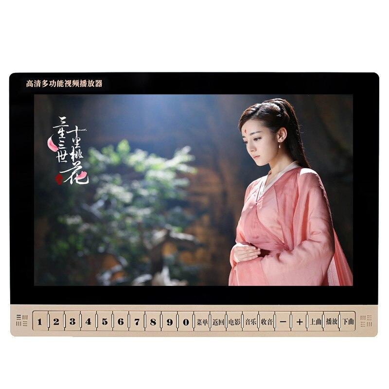 19 дюймов HD ЖК экран цифровой Мультимедиа Портативный DVD EVD VCD mp3 плеер с держателем, видео машина/USB, TF карта, колонки MP4