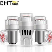 Bmtxms 2 pces carro conduziu a luz p21 5w 1157 p21/5 pr21/5 baz15d baw15d bay15d freio automático cauda lâmpada de backup drl luz diurna runnig
